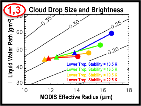 MODIS and CERES Data Suggest Polluted Clouds are Brighter and Contain Smaller Droplets